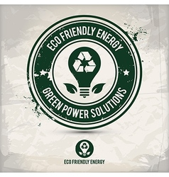 alternative eco energy stamp vector image