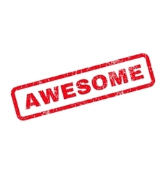 Awesome Text Rubber Stamp vector image