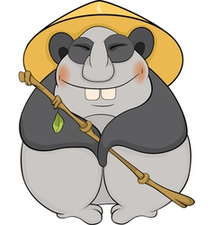 Bear a panda with a hat vector image
