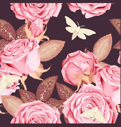 beautiful roses seamless vector image vector image