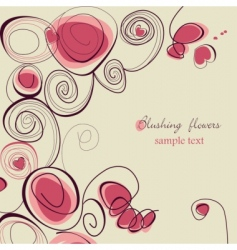 blushing flowers vector image