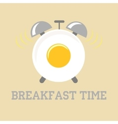breakfast time vector image