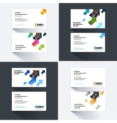 Business card template with diagonal vector