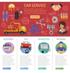 Car Service and Roadside Assistance Infographics vector image vector image