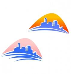 cityscape symbols vector image