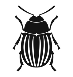 Colorado potato beetle icon simple style vector