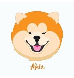 dog Akita vector image vector image