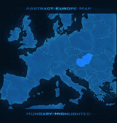 Europe abstract map hungary vector