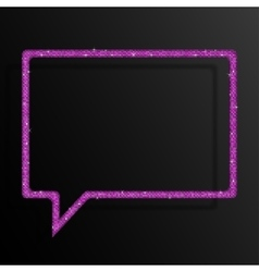 Frame pink sequins speech bubble sparkle stars vector