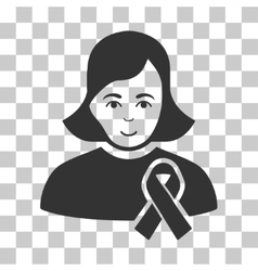 Girl With Sympathy Ribbon Icon vector image vector image