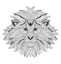 Hand drawn decorative lion vector