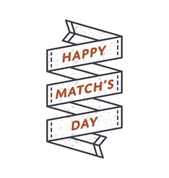 Happy match day greeting emblem vector