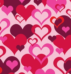 Hearts on lace vector