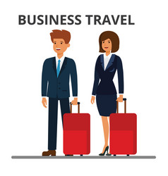 international business travel businessman and vector image vector image