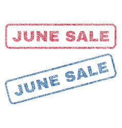 June sale textile stamps vector