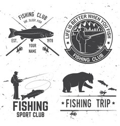Life is better when you fish vector
