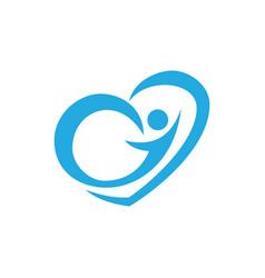 love human logo image vector image