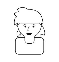 man head vector image