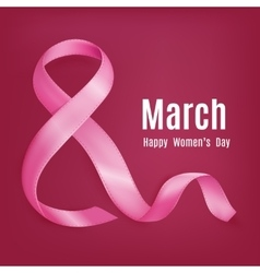 March 8 background vector image