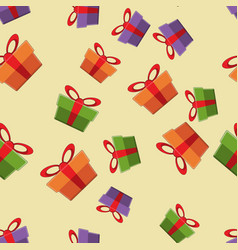 pattern gift box for fabric print wrapping packag vector image