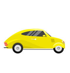 retro vintage old style yellow car vehicle vector image