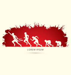 running step vector image