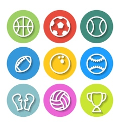 Set of flat sports icons vector