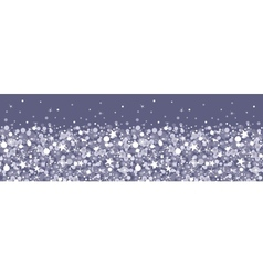 Silver sparkles horizontal seamless pattern vector
