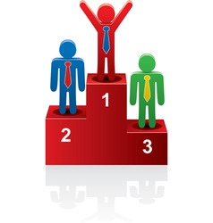 vector winners on the podium vector image