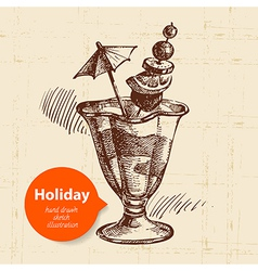 Vintage travel and holiday background vector image vector image