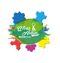 World autism awareness day design vector