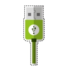 Usb cable connection icon vector