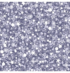 Silver sparkles seamless pattern background vector image