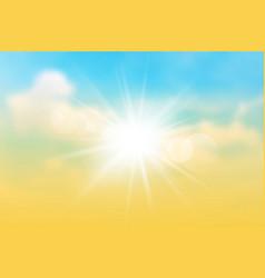 Sun rays on the twilight sky vector