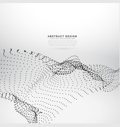Abstract particles mesh on white background vector