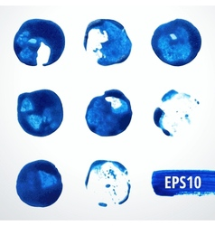 Watercolor Blots Set 2 vector image