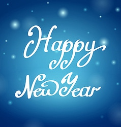 Happy new year blue background vector