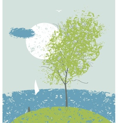 Spring breeze vector