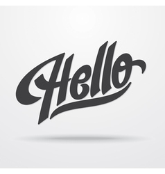Hello hand lettering vector