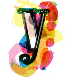 Artistic Font - Letter y vector image