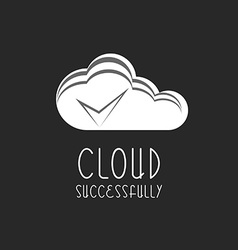 Cloud icon check mark sign the process is vector