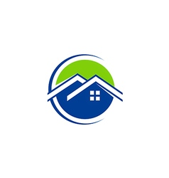 House realty technology roof logo vector