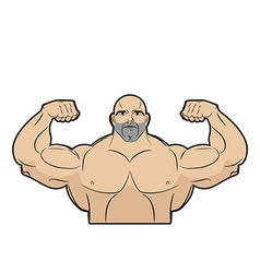 Bodybuilder on a white background athlete with big vector