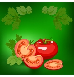 Tomato healthy lifestile vector