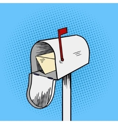 Mail box pop art style vector