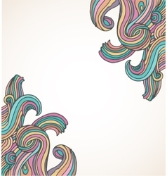 Hand drawn doodle hippie background vector