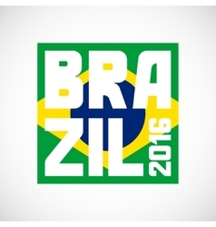 Brazil abstract background in color of flag vector