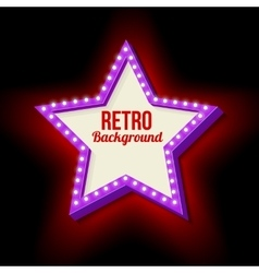 Vintage retro star with lights vector