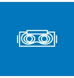 Virtual reality headset line icon vector
