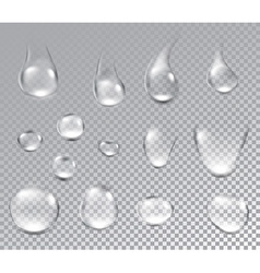 Background with water drops vector